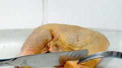 Как снять кожу с курицы