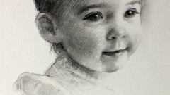 Как нарисовать лицо ребенка