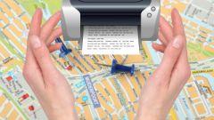 Как распечатать карту