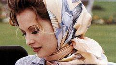 Как завязывать шарф на голове
