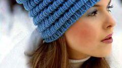Как связать модную шапку
