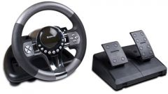 How to connect the steering wheel and pedals to the computer
