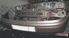 Как снять передний бампер