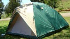 Как поставить  палатку