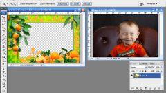 Как вставить в рамку фотографию в фотошопе