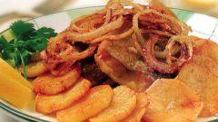 Как пожарить картошку с мясом