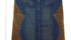 Как сшить из старых джинс юбку