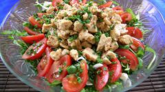 How to cook salad with white chicken meat