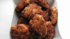 How to fry the meatballs-semi-finished products