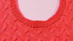 Как вязать горловину свитера