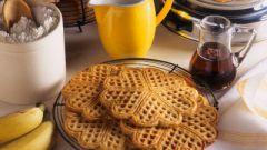 Как приготовить вафли в вафельнице