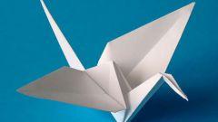 Как сделать журавля из бумаги