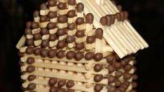 Как строить домик из спичек