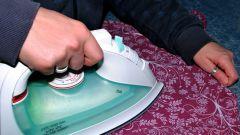 Как удалить след от утюга на ткани