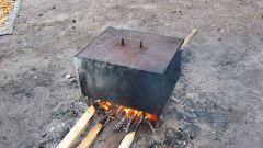 Как сделать коптильню горячего копчения