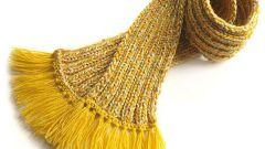 Как сделать кисти на шарф