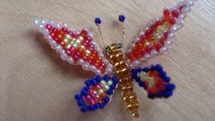 Как сделать бабочку из бисера