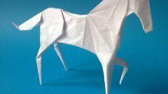 Как сделать лошадь оригами