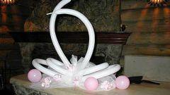 Как сделать лебедя из шаров