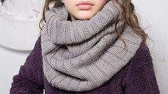 Как вязать шарф-хомут