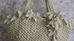 How to knit a bag from the packages