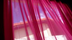 How to sew curtains organza