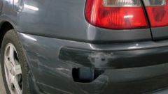 How to remove a scratch on the bumper