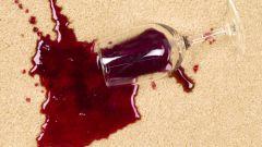 Как удалить пятна от вина