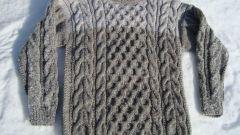 Как связать мужской свитер на спицах