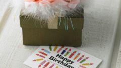 Как сделать красивую открытку на день рождения