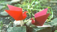 Как сделать из бумаги птицу счастья