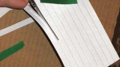 Как разрезать лист бумаги