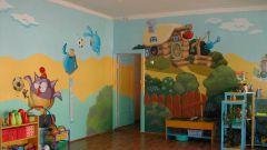 Как оформить стены детского сада
