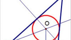 How to construct a circle inscribed in a triangle