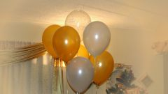 How to decorate the room with balloons