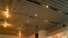 Как монтировать реечные потолки