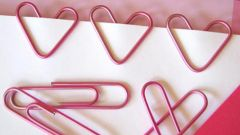 Как сделать сердечко из скрепок