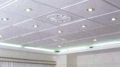 Как убрать потолочную плитку