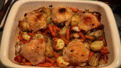 Как приготовить курицу с овощами