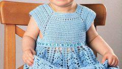 Как связать платье на девочку до года
