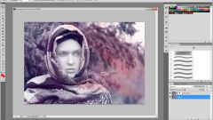 How to insert face in template photoshop