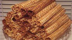 Как готовить вафельные трубочки