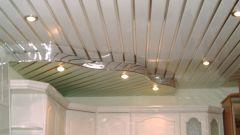 Как делать реечный потолок