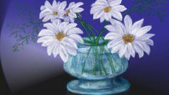 Как рисовать цветы гуашью