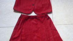 Как сделать складки на юбке