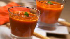 Как приготовить холодный томатный крем-суп
