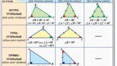 Как определить вид треугольника
