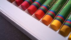How to paint with wax crayons