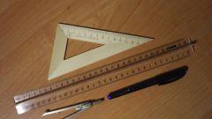 Как построить медиану треугольника с помощью циркуля