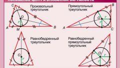 Как найти радиус вписанной окружности в равнобедренном треугольнике?